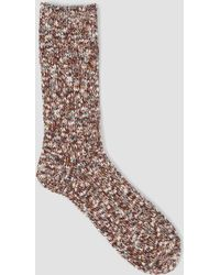 Mauna Kea - Multi Colour Slub Socks Brown - Lyst