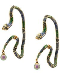 Roberto Cavalli - Enamelled Snake Earrings - Lyst