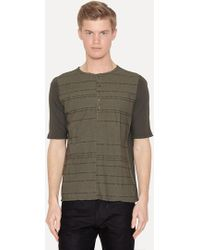 Lumen Et Umbra - Laser Burned Green Henley Shirt - Lyst