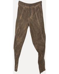 Lumen Et Umbra - Washed Wool Metal Trousers - Lyst
