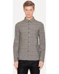 Lumen Et Umbra - Laser Burned Gray Button Down Shirt - Lyst