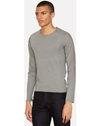 Lumen Et Umbra - Grey Jersey Poplin Layered Long Sleeve - Lyst