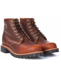 "Chippewa Boots - Chippewa 6"" Plain Toe Lugged Boot Tan Renegade - Lyst"