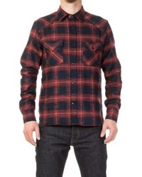 Rogue Territory - Western Shirt Neppy Flanell Maroon - Lyst