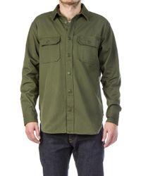 Filson - Drill Chino Shirt Olive - Lyst