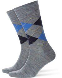 Burlington - Melange Edinburgh Socks Lobelia - Lyst