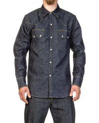 Lee Jeans - Western Denim Shirt Dry Indigo - Lyst