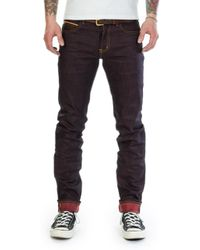 Naked & Famous - Super Guy Ken Shoryuken Red Uniform Selvedge Indigo/red 12.5oz - Lyst