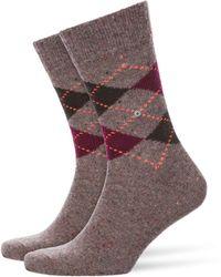 Burlington - Tweed Argyle Brown/red - Lyst
