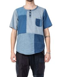 FDMTL - Boro Patchwork S/s Shirt 2-years Wash Indigo - Lyst