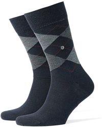 Burlington - Edinburgh Socks Dark Navy - Lyst