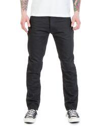 Nudie Jeans - Fearless Freddie Dry Black Yd 12.5oz - Lyst