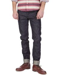 Japan Blue Jeans - Jb0304 African Brown Cotton Mix Tapered 12.5oz - Lyst