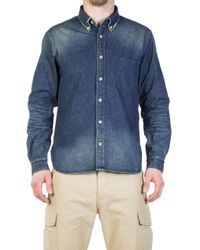 Japan Blue Jeans - Jbsa05 Pw Military Shirt Bd Shirt Indigo - Lyst