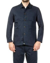 Universal Works - Bakers Jacket Twill Navy - Lyst