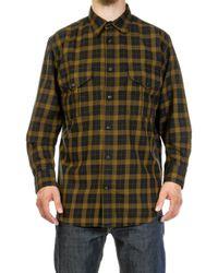 Filson - Lightweight Alaskan Guide Shirt Black/mustard - Lyst