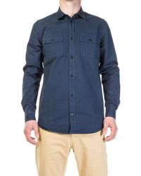 Norse Projects - Villads Twill Shirt Navy - Lyst