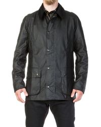 Barbour - Ashby Wax Jacket Black - Lyst