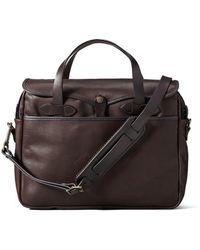 Filson - Original Leather Briefcase Sierra Brown - Lyst