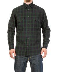 Filson - Lightweight Alaskan Guide Shirt Black/dark Green Plaid - Lyst