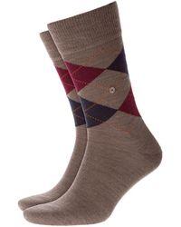 Burlington - Edinburgh Socks Brown/red/navy - Lyst
