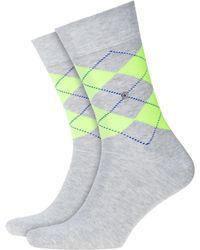 Burlington - Neon King Socks Grey - Lyst