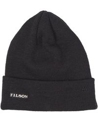 Filson - Wool Cuff Cap Black - Lyst