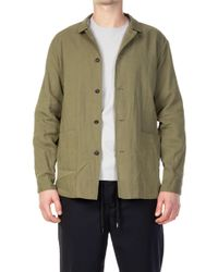 Still By Hand - Overshirt Olive - Lyst