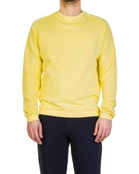 Universal Works - Easy Crew Diagonal Loopback Lemon - Lyst
