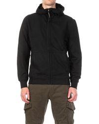 C P Company Hooded Open Diagonal Raised Fleece Goggle Black