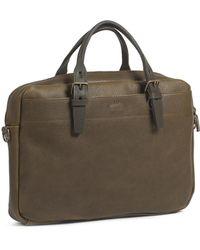 Bleu De Chauffe - Business Bag Folder Khaki - Lyst