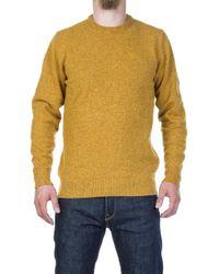 Barbour - Tisbury Lambswool Sweater Copper - Lyst