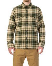 Filson - Deer Island Jac-shirt Dark Cream/green Plaid - Lyst