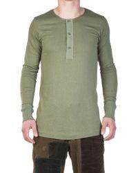 Merz B. Schwanen - 102 Button Facing Shirt 1/1 Army - Lyst