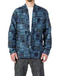 Naked & Famous - Kimono Shirt Boro Patchwork Blue - Lyst