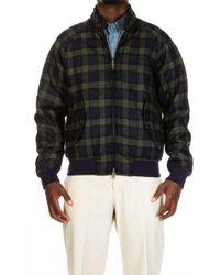 Baracuta - G9 Winter Jacket Shetland Melton Blue Check - Lyst