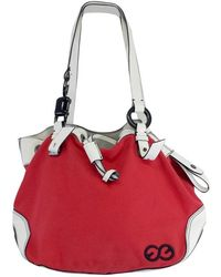 d2998ba879d5 ESCADA - Sport- Red   White Canvas   Leather Bag - Lyst