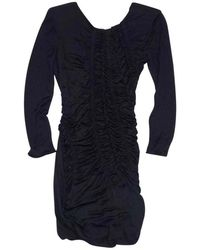 Emilio Pucci - Black Ruched Long Sleeve Dress - Lyst