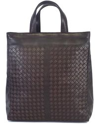 6bcec1e7b4 Bottega Veneta - Brown Woven Leather Tote Bag - Lyst