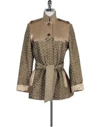 Matthew Williamson - Metallic Button Down Jacket - Lyst