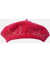 Cynthia Rowley | Hot Pink Rebel Rebel Beret | Lyst