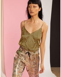 Cynthia Rowley - Checkmate Printed Tank Top - Lyst