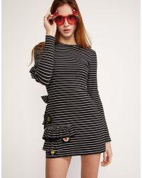 Cynthia Rowley - Luna Embellished Knit Jersey Mini Dress - Lyst