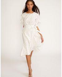 943b057ef0fb Lyst - For Love & Lemons Rosebud Embroidery Mini Dress in White