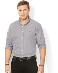 Ralph Lauren Polo Big and Tall Classic-fit Striped Poplin Shirt - Lyst
