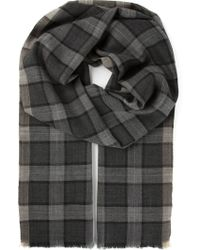 Tom Ford - Checked Scarf - Lyst