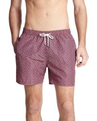 Façonnable - Printed Swim Trunks - Lyst