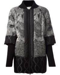 Isola Marras - Jacquard Panelled Coat - Lyst