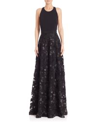 Badgley Mischka | Embroidered Ball Gown | Lyst
