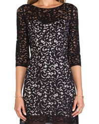 Milly Floral Lace Ally Dress - Lyst